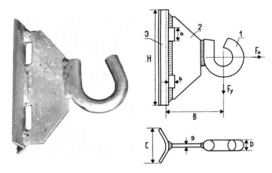 Купить Крюк для круглых и прямоугольных опор GHSO 12 с доставкой по Украине. Цена и характеристики.